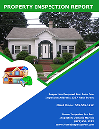 Home Inspection Report Cover